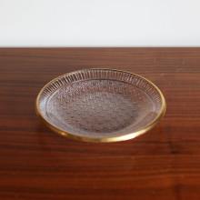 [Gold Trim Crystal] Ø16.5cm Glass Plate, 골드트림 크리스탈 플레이트, 유리 접시