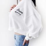 럽럽 여자 크롭 맨투맨 티셔츠 2color