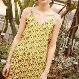 써틴먼스 17ss yellow flower bustier onepiece