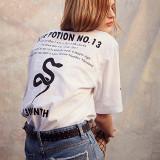 써틴먼스 17ss snake printing t-shirtswhite