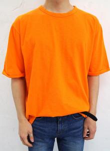 베이직 슬라브 롤업 반팔티셔츠 5color