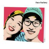 팝아트초상화 디지털2, 2인 캔버스그림 주문제작