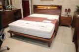 [광성가구] 고무나무 원목 월넛 침대 프레임 퀸,수퍼싱글 가능