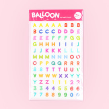 Balloon Alphabet Sticker - 루카랩 풍선 알파벳 데코스티커