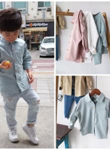 베이직셔츠 유아동 남여공용