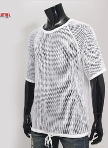 남자 망사 반팔 티셔츠 045 여름 니트 비치웨어