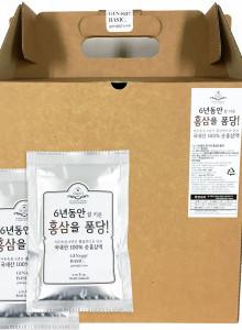 100% 국내산 6년근 홍삼액 홍삼을 퐁당! 60파우치