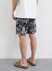 남자 바캉스룩 꽃무늬 밴딩 반바지 2color