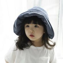 미니 도트 유아썬캡 아기모자