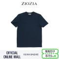 (지오지아/ZIOZIA) C/P혼방 폴리립 디자인포인트 캐주얼 티셔츠(ABX2TR1103/네이비)