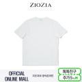 (지오지아/ZIOZIA) C/P혼방 트임장식 포인트 브이넥 티셔츠(ABX2TV1102/화이트)