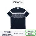 (지오지아/ZIOZIA) 혼방소재 블럭절개 포인트 캐주얼 티셔츠(ABX2TR1106/네이비)