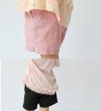 아동 린넨 심플 반바지(블랙,핑크,그린)