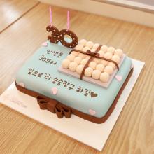30살 생일 계란한판 사각케이크