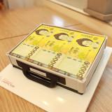 서프라이즈 생일선물 007 돈가방 케이크