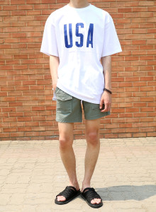 USA 박스핏 티셔츠