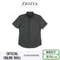 (지오지아/ZIOZIA) 니트조직 카라형태 플라켓 포인트 캐주얼 셔츠(AAX2WC1202/카키)