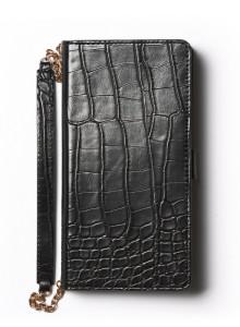 제누스 아이폰8 플러스 크로코 지갑 가죽케이스 블랙