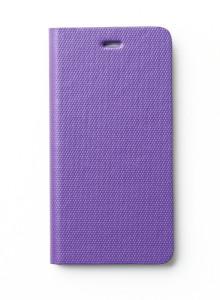 제누스 아이폰8 플러스 메탈릭 가죽케이스 바이올렛