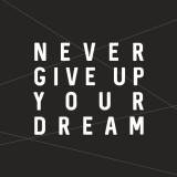 주방아트보드 키친플래너 / 내 꿈을 포기하지마 블랙 400x400