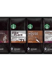 [선물 세트] 스타벅스 오리가미 드립 커피 4가지 종류 원두 각 5봉지(총 20매) 블랙 커버 타입 SBX-30E