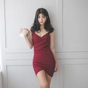 튤립원피스 섹시 란제리홀복