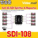 SDI108 - 1x8 3G SDI Splitter & Repeater