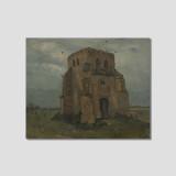 no.504 빈센트 반 고흐 l 누에넨에서의 오래된 교회타워