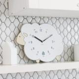 WHITE LAMB Wall Clock 흰 양 무소음 벽시계