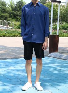 에드 데일리 오버핏 모던셔츠 (블루,화이트,핑크)