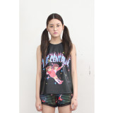 더센토르 SELLY SLEEVELESS LEATHER TOP