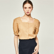 [리우닉] CYNICAL BALLOON BLOUSE BEIGE