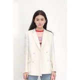 더센토르 SILK MICADO TASSEL JACKET -white