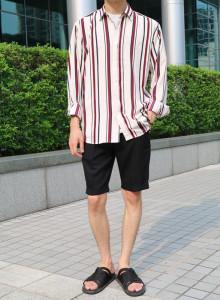 팬텀 스트라이프 루즈핏 셔츠 2color