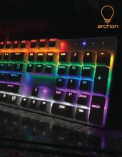 국민 기계식 키보드 도전, archon AK47 Rainbow VIKI 갈축 LED 기계식 키보드