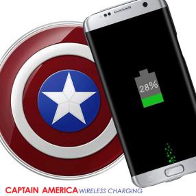 캡틴아메리카 무선충전기 패드