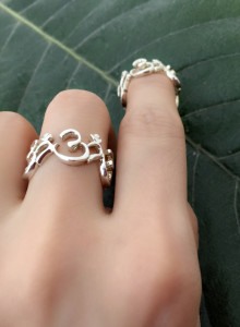 new 신성의 옴 볼륨 반지 ( 볼륨 silver & gold ring )