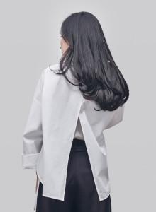 카인듀 / 오픈 백 셔츠 / KINDEW open back shirt (white)