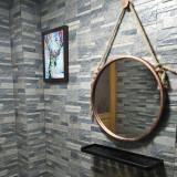 스틸 삼(마)밧줄 스트랩 라운드 거울 화장대 거울