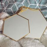 셀프 인테리어 소품 6각형 골드 체인 거울