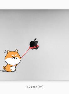 시바의 사과 (시바견 캐릭터 맥북스티커)