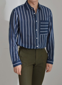 남자 빈티지 스트라이프셔츠 [더블리]BM