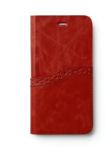 제누스 아이폰8 플러스 옥스포드 가죽케이스 레드