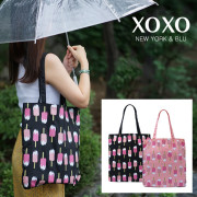 XOXO BLU 샤벳 레인에코백 ULSH008 (블랙/핑크)