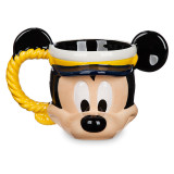 [디즈니정품] 캡틴 미키 마우스 머그컵 Captain Mickey Mouse Sculptured Mug - Disney Cruise Line