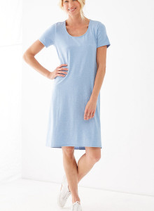가을 원피스 J.Jill Pure Jill A-Line Elliptical Dress - soft cornflower heather