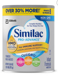 씨밀락 분유 프로 어드밴스 HMO 30% MORE : Similac Pro-Advance HMO Powder Value Size - 30.8oz