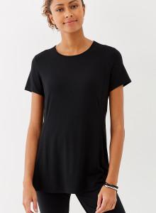 가을 티셔츠 J.Jill Wearever Seamed Peplum Top - black
