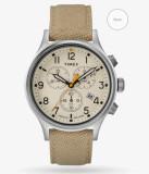 타이맥스 시계 TIMEX Allied™ Chronograph Silver-ton/Tan/Natural TW2R47300VQ