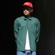 체인 오버핏 스트라이프 셔츠